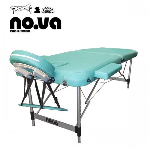 Алуминиева масажна кушетка в светлозелен цвят - NO.VA Aero NV22