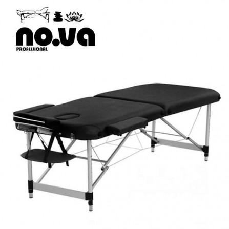 Алуминиева масажна кушетка NO.VA Aero NV22 - черен цвят