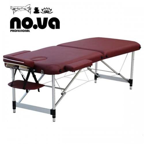 Алуминиева масажна кушетка в цвят бордо - NO.VA Aero NV22