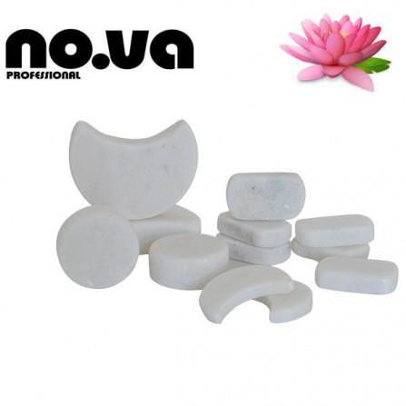 Бели Мраморни Камъни за студена терапия – Комплект 12 бр.