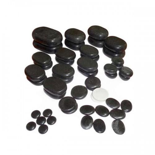 Базалтови вулканични камъни - Комплект от 50 бр.