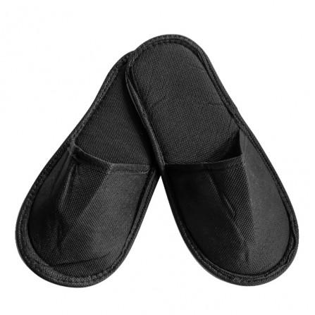 Чехли от нетъкан текстил с плътна подметка, Черен цвят