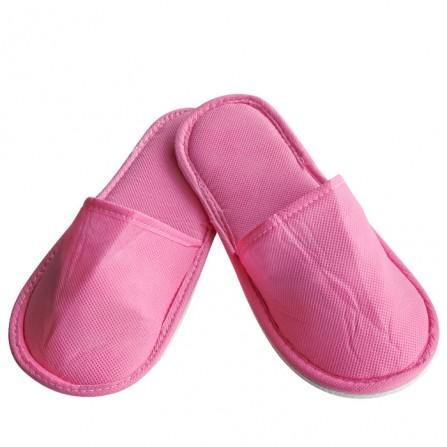 Чехли от нетъкан текстил с плътна подметка, Розов цвят