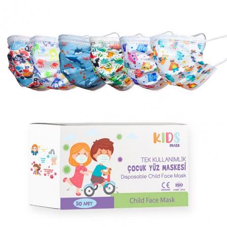 Детски медицински маски от нетъкан текстил – 50 бр.