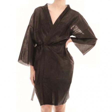Кимоно за еднократна употреба от нетъкан текстил - Черен цвят