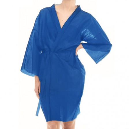 Кимоно за еднократна употреба от нетъкан текстил - Син цвят