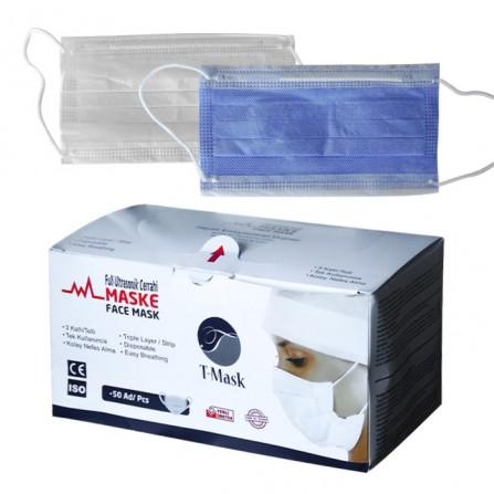 Еднократни медицински маски T-mask, опаковка от 50 броя