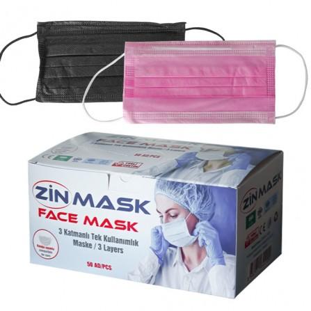 Еднократни медицински маски Zin mask, опаковка от 50 броя