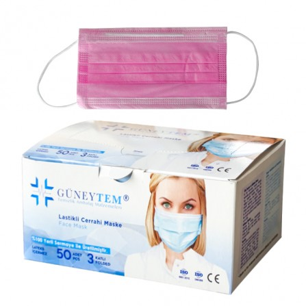 Еднократни медицински маски Güneytem, опаковка от 50 броя