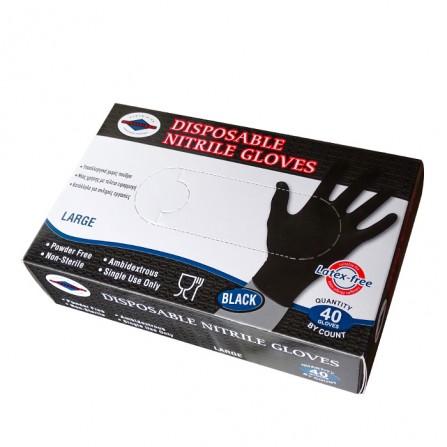 Нитрилни ръкавици за еднократна употреба, 40 броя