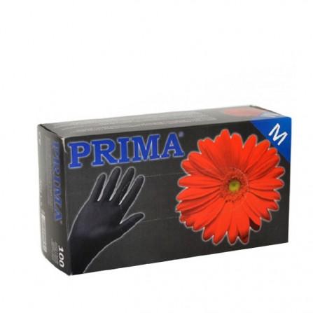Еднократни ръкавици от нитрил, черни - Prima, 100 бр.