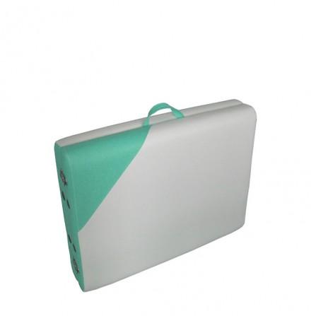 Масажна кушетка - Преносима Алуминиева NO.VA Aero Delux NV21, Бял/Зелен