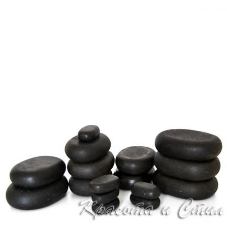 Комплект 16 бр. Вулканични Камъни За Масаж от Базалт